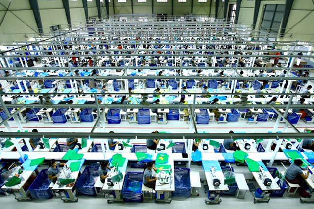 ミャンマー第二工場ライン
